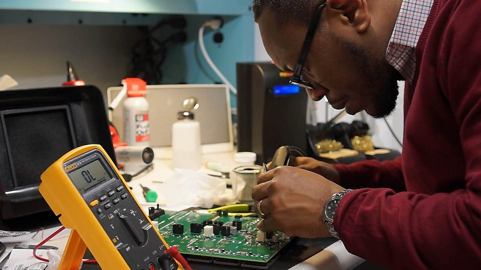 Shell TechWorks engineers at work in a workshop