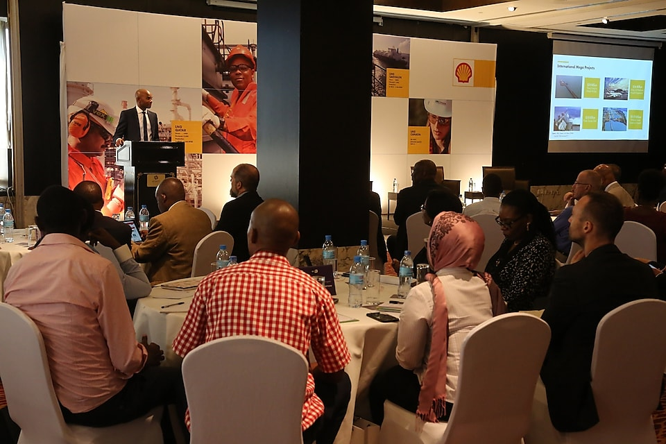 Kenneth Mutaonga – Commercial Manager presenting on Shell - global perspective